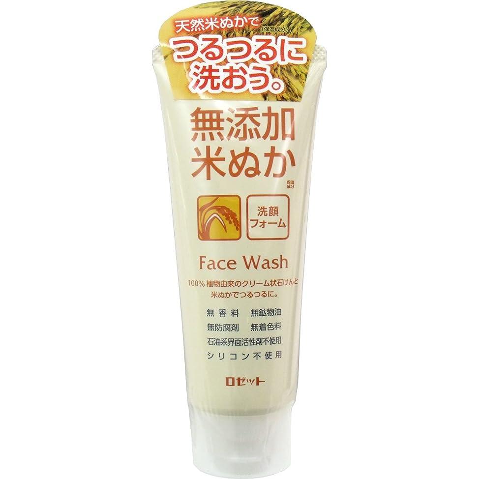 一般的に不適ブース【ロゼット】無添加米ぬか洗顔フォーム 140g ×5個セット