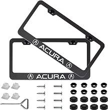 acura license plate frame black