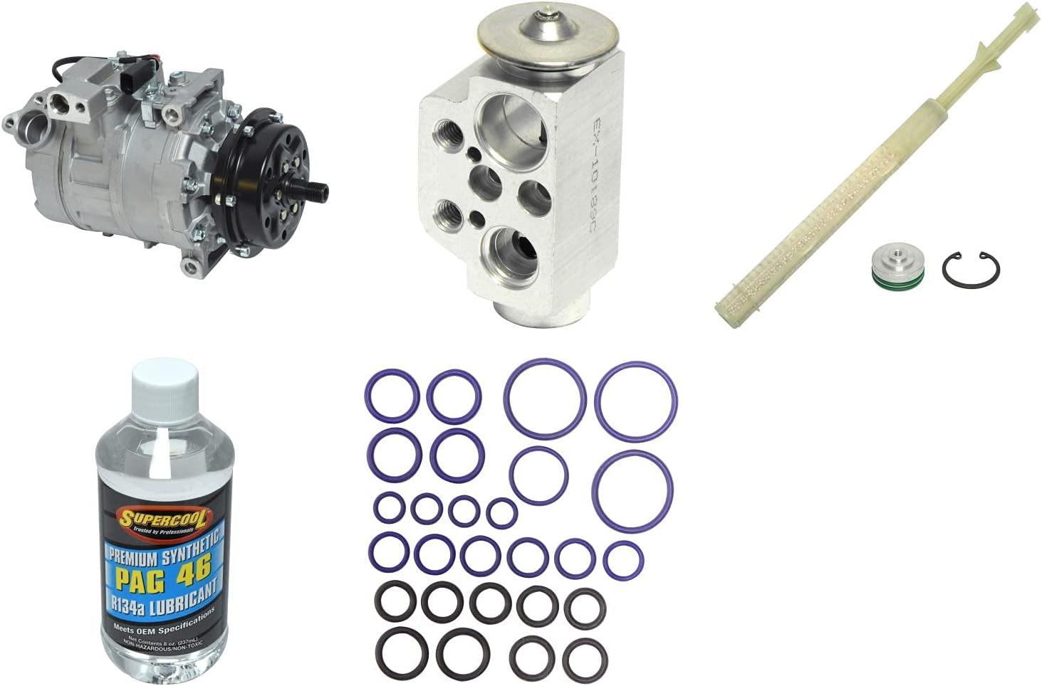 New A C Compressor and Max 77% OFF Max 48% OFF Kit for Component Touareg