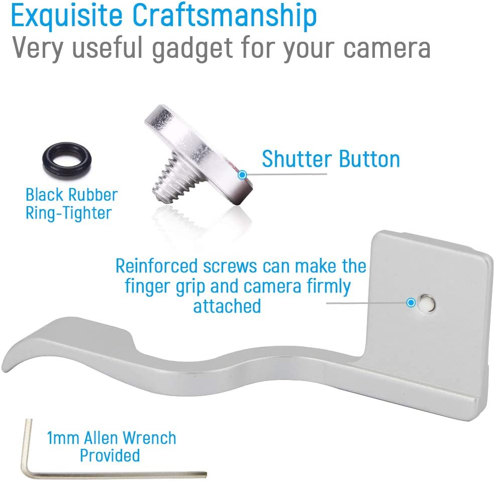 Trigger Button Compatible with Fuji Fujifilm X-T4 XT4 Camera Thumb Grip Metal Thumb Rest Thumb Grip