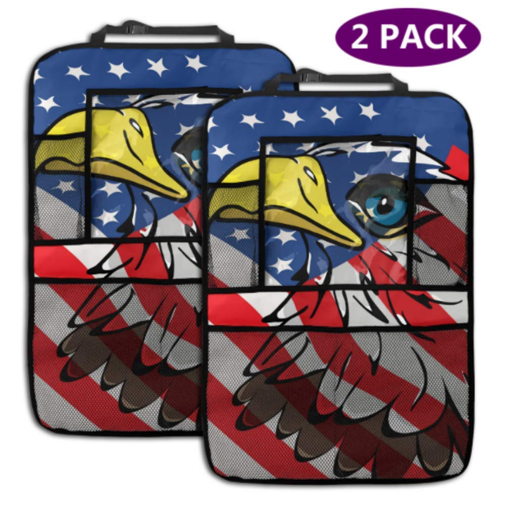 2 Pack Car Backseat Organizer Eagle United Flag Max Max 64% OFF 57% OFF Over Vect States