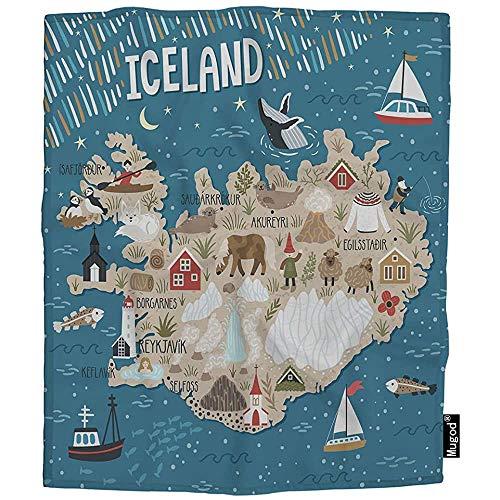 QDAS van Gooi IJsland Mensen Natuur Boot Gezellige Warme Dekens voor Peuter Huisdier Kat