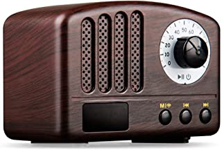 Vintage Radio Retro Bluetooth Speaker- Wooden FM Radio with Old Fashioned Classic Style, Strong Bass Enhancement, Loud Vol...
