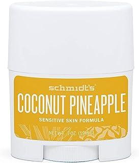 Schmidt's Deodorant Sensitive Skin Natural Coconut Pineapple - 6 Pack - Cruelty Free Vegan Deodorant for Women & Men - Tra...