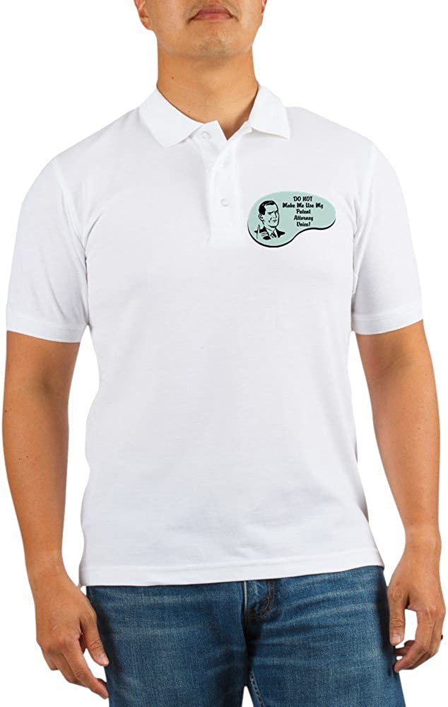 CafePress Inexpensive Patent Fashionable Attorney Golf Polo Voice