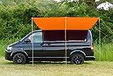 Debus camping-car Marquise Auvent/ombrage - extrémités Orange brillantes