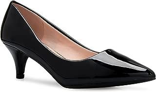 Women's Classic D'Orsay Closed Toe Kitten Heel Pump -...