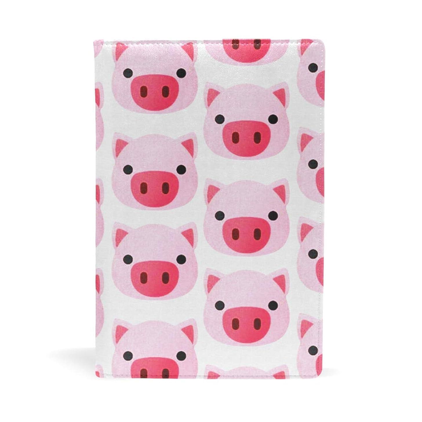 リーン強要教育ブックカバー 文庫 a5 皮革 レザー 可愛いの豚柄 文庫本カバー ファイル 資料 収納入れ オフィス用品 読書 雑貨 プレゼント