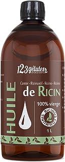 Huile de Ricin 1L, Pure et Naturelle - Barbe, Cheveux, Cils, Ongles, Peau. …