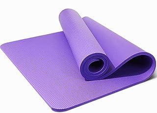 1830 * 610 * 10mm yogamatta halkskydd Pilatesmatta Sport gymnastikmatta Inomhus träning fitness filt lila