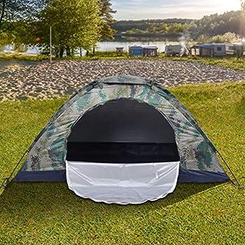 Kudoo Tente de Camping 1 à 2 Personnes Tente de Dôme de Camouflage, Installation Rapide et Facile, Tente Pliante, Facile à Transporter pour Pique-Nique, Plein air, Voyage, Randonnée