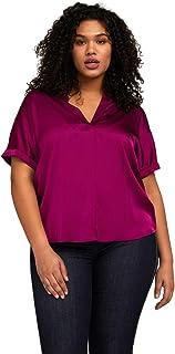 Fiorella Rubino : Camicia Stampata con Pizzo Donna (Plus Size)