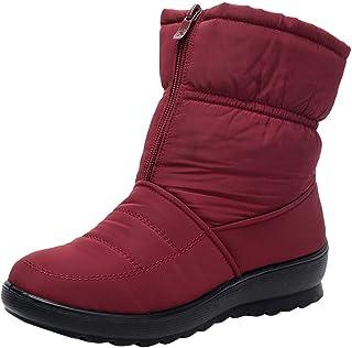 comprar comparacion Botas de Nieve Botines Mujer, LANSKIRT Mujer Invierno Impermeable Short Botas de Nieve Calzado Caliente Zapatos Botas de I...
