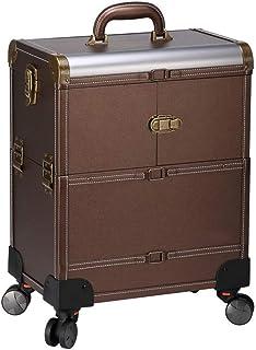 WSJTT. حقيبة صندوق مستحضرات تجميل كبيرة من 6 طبقات مع حجرات تخزين احترافية وصندوق للمكياج لتخزين المجوهرات وحقيبة قابلة لل...