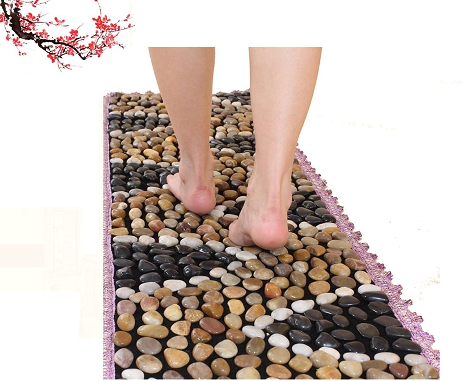 LIAN Shiatsu Plate Foot Massage Pad Acupuncture Massager Mat Toe Pressure Plate Mat for Healthy Relaxing Sole Massage 150X40cm