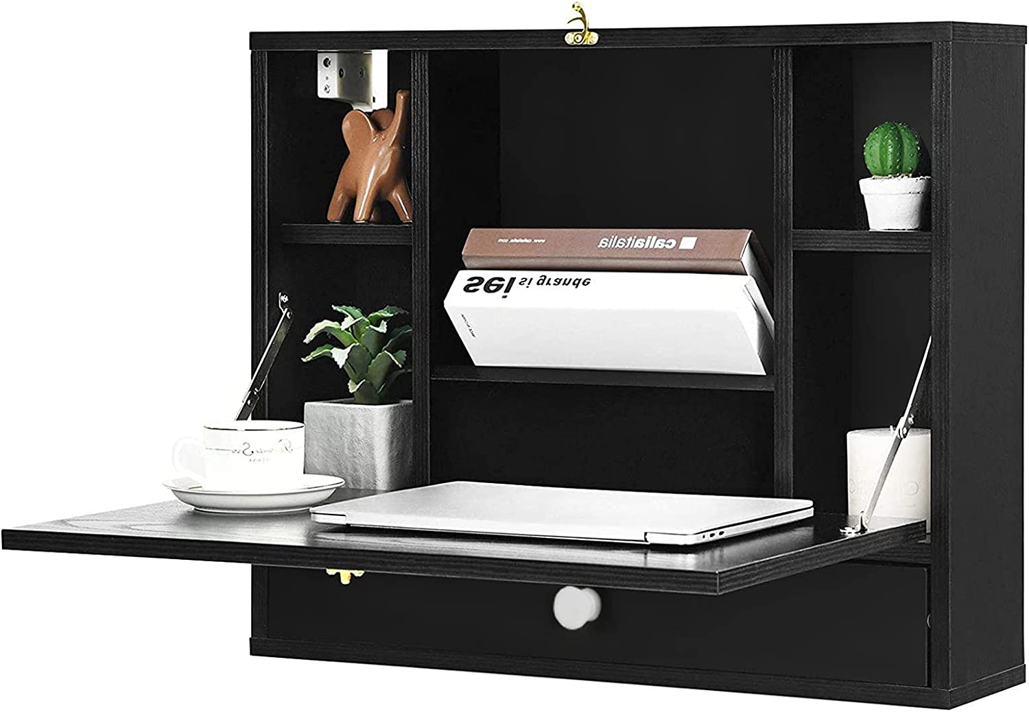 Ranking TOP5 CRX Floating Cabinets Black - Corner Regular store wit with Wall Doors Cabinet