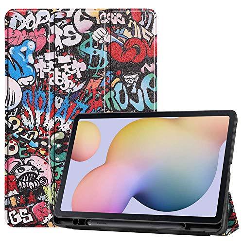 Capa ESSTORE-EU para Samsung Galaxy Tab S7 11 polegadas 2020 (modelo SM-T870/T875), capa inteligente à prova de choque com suporte triplo e dobrável [Auto hibernar/despertar] [Suporte para caneta S], grafite