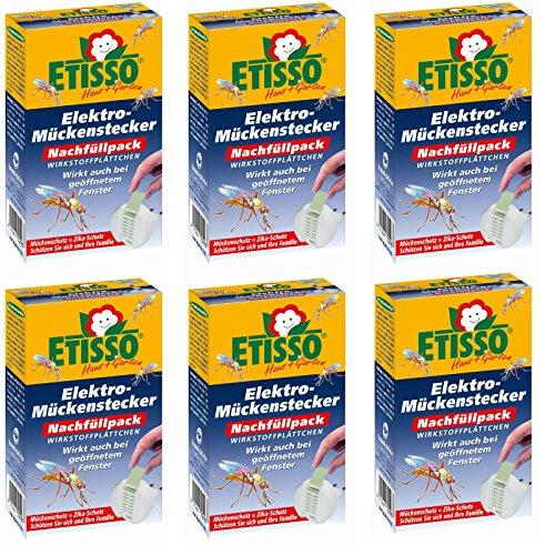 6 x 20 (120 Stk) Etisso (ehemals Delicia) Elektro-Mückenstecker Nachfüllpack