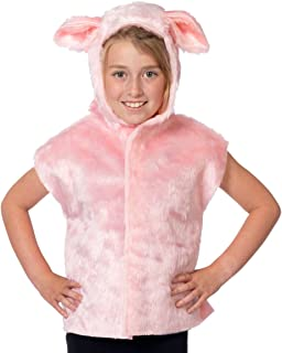 Charlie Crow Pig Costume for Kids one Size 3-8 Years Pink