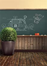 AOFOTO 5x7ft Classroom Chalkboard Background Blackboard Photography Backdrop Old Wooden Floor Kid Boy Girl Child Portrait School Photoshoot Studio Props Video Drape Wallpaper