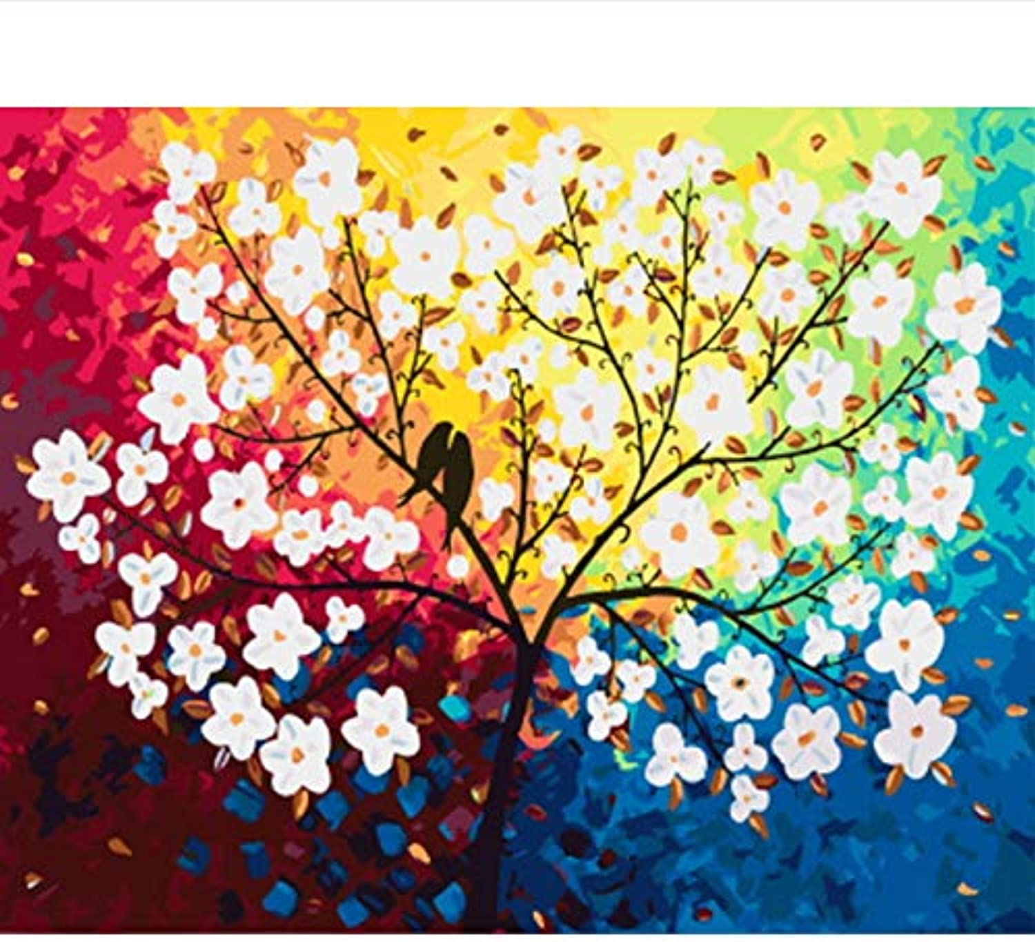 CAYYOU DIY oil painting by number paint by number for home decor canvas painting abstract flower, Framed, 50x60cm