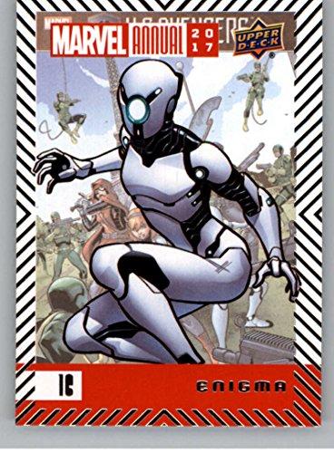 2018 Upper Deck Marvel Annual #16 Enigma Marvel Trading Card Enigma Superhero