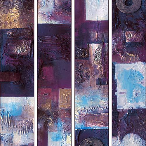 murando - PURO TAPETE - Realistische Tapete ohne Rapport und Versatz 10m Vlies Tapetenrolle Wandtapete modern design Fototapete - Abstrakt Textur violett a-A-0129-j-c