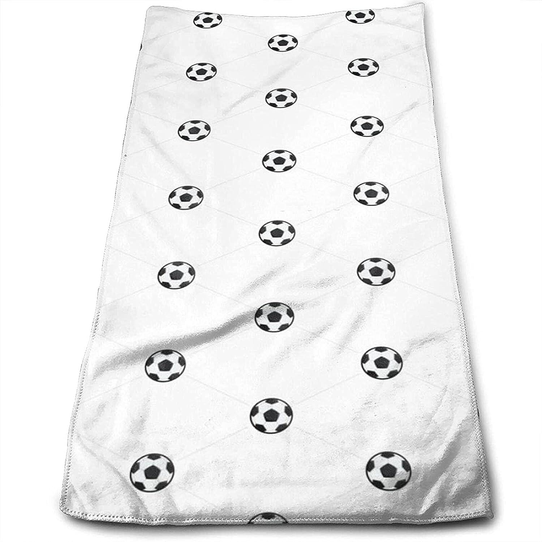 Epushow Football Pattern Handkerchief Kitchen Bathroom Handkerchief Soft Polyester Microfiber
