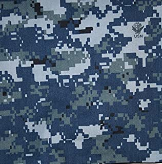"""US Navy NWU Digital Blue Nyco Twill 65"""" Camouflage Fabric by The Yard"""