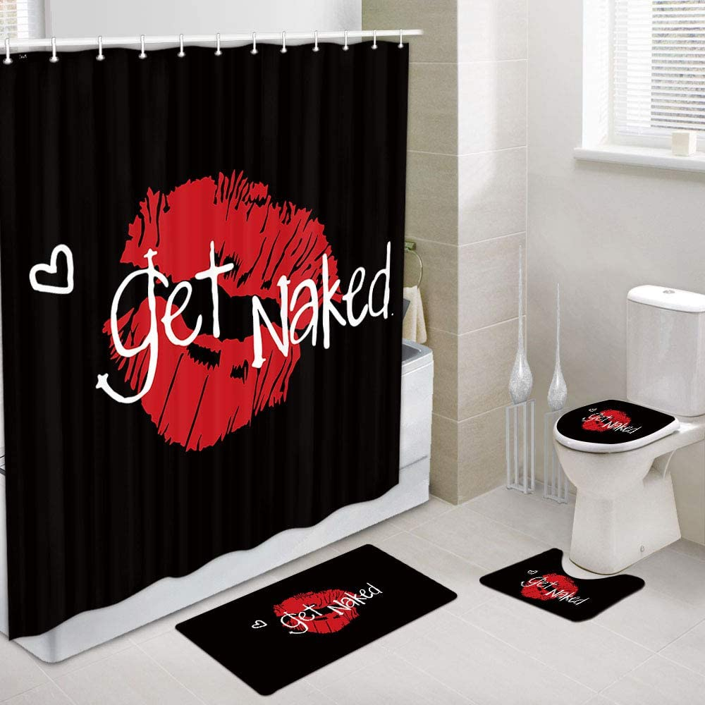 JAWO Get Naked Shower Curtain and 2021new shipping free Inch Bath 69x70 Mat Sexy Set Super special price