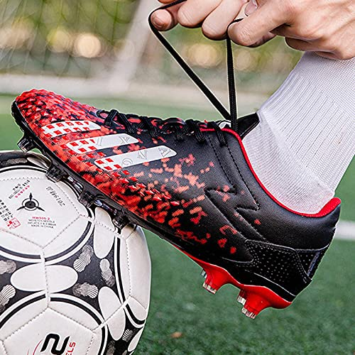 XRDSHY Zapatos de Fútbol Hombre Spike Aire Libre Profesionales Atletismo Training Botas de Fútbol Ligero Tacos Fútbol Zapatos de Deporte Unisex Niños,D-43 EU