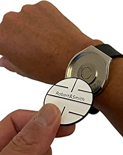 [ロバート・アンド・スミス] ゴルフ マーカー 腕時計タイプ 大きい ボールマーカー 直径38mm ゴルフ用品 アクセサリー おしゃれな腕時計タイプ ギフト/コンペ賞品にも最適 ギフトボックス入り