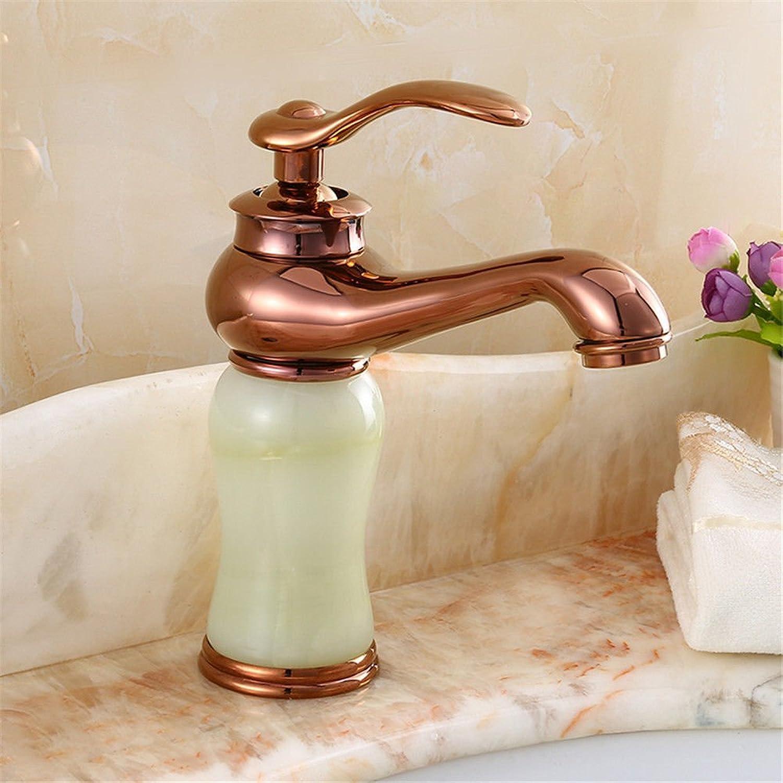 SADASD Contemporary Bathroom Full Copper Basin Faucet Jade Basin Sink Mixer Tap Ceramic Valve Single Hole Single Handle Cold Water With G1 2 Hose