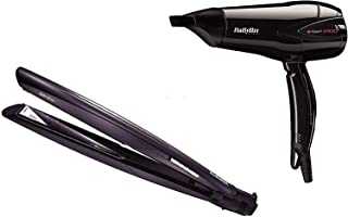 Babyliss BABST325SDE + D322SDE,Slim 22 SASO Straightener + Babyliss Hair Dryer 2100W (Pack of 1)