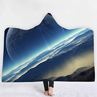 [HomeMiYN] ルームウェア 毛布 着るブランケット フード付きブランケット 宇宙柄
