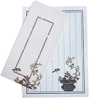 Set of 10 Chinese Style Vintage Envelope Set Poetic Writing Paper, Earthen Jar