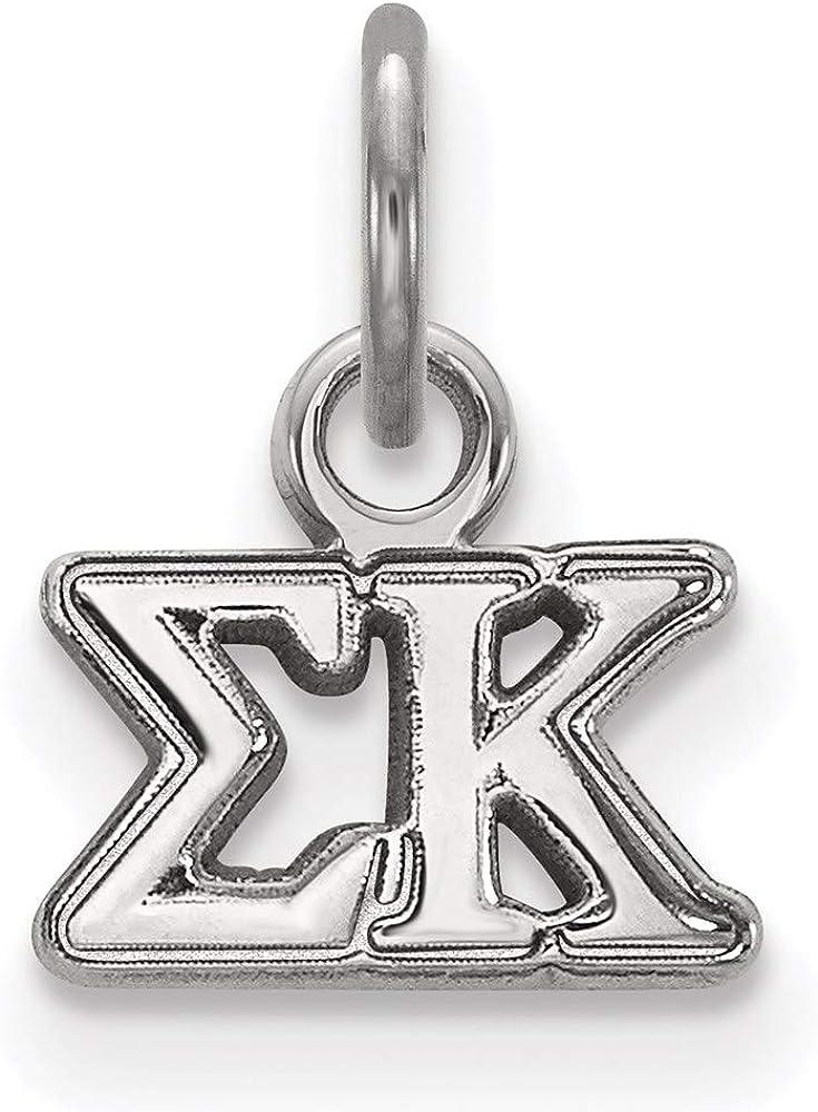 Popular brand in the world Charm Pendant White Sterling shipfree Silver Greek mm 12 8 Kappa Sigma