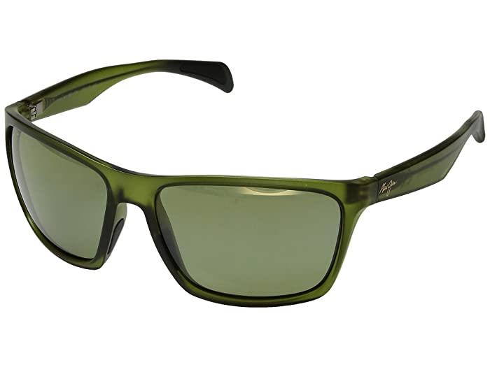 Maui Jim  Makoa (Matte Translucent Khaki Green/Maui HT) Fashion Sunglasses