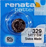 Renata - Pila botón óxido de plata 329 RENATA 1.55V 37mAh - Blister(s) x 1