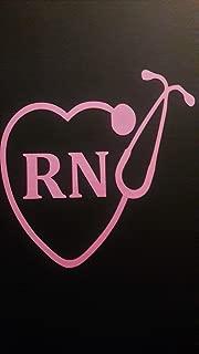 Chase Grace Studio Nurse Nursing RN LPN Stethoscope Vinyl Decal Sticker|Pink|Cars Trucks Vans SUV Laptops Wall Art|5.5