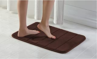 TownHouse Memory Foam Bath Mat Soft Luxury Cushioned Pad for Bathroom Floors ,Non-Slip Absorbent Baby Shower Mats , Cushio...