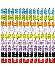 مجموعة تعليقات للقلائد على شكل دببة ملونة مصنوعة من الراتنج لصنع الحلي والمشغولات اليدوية والعقود وسلاسل المفاتيح من ماينلايف، 180 قطعة