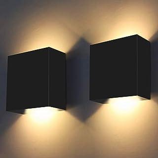 2Pcs Applique Murale Intérieur, 10W ShuBel Applique LED D'intérieur, Applique Murale Décorative 3000K Blanc Chaud Moderne ...