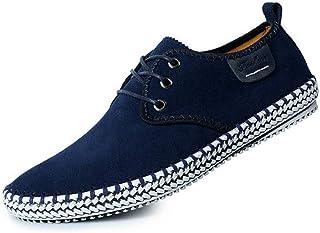 LIEBE721 Chaussures Bateau en Toile Casual Low-Top Homme Chaussures à Lacets Élégant Mocassins en Hommes Penny Loafers Cha...