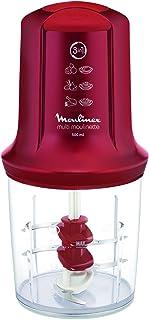 Moulinex Mini Hachoir Électrique Multi Moulinette 3en1, Hacher, Mixer, Émulsionner, Mayonnaise, Chantilly, Viande, Légumes...