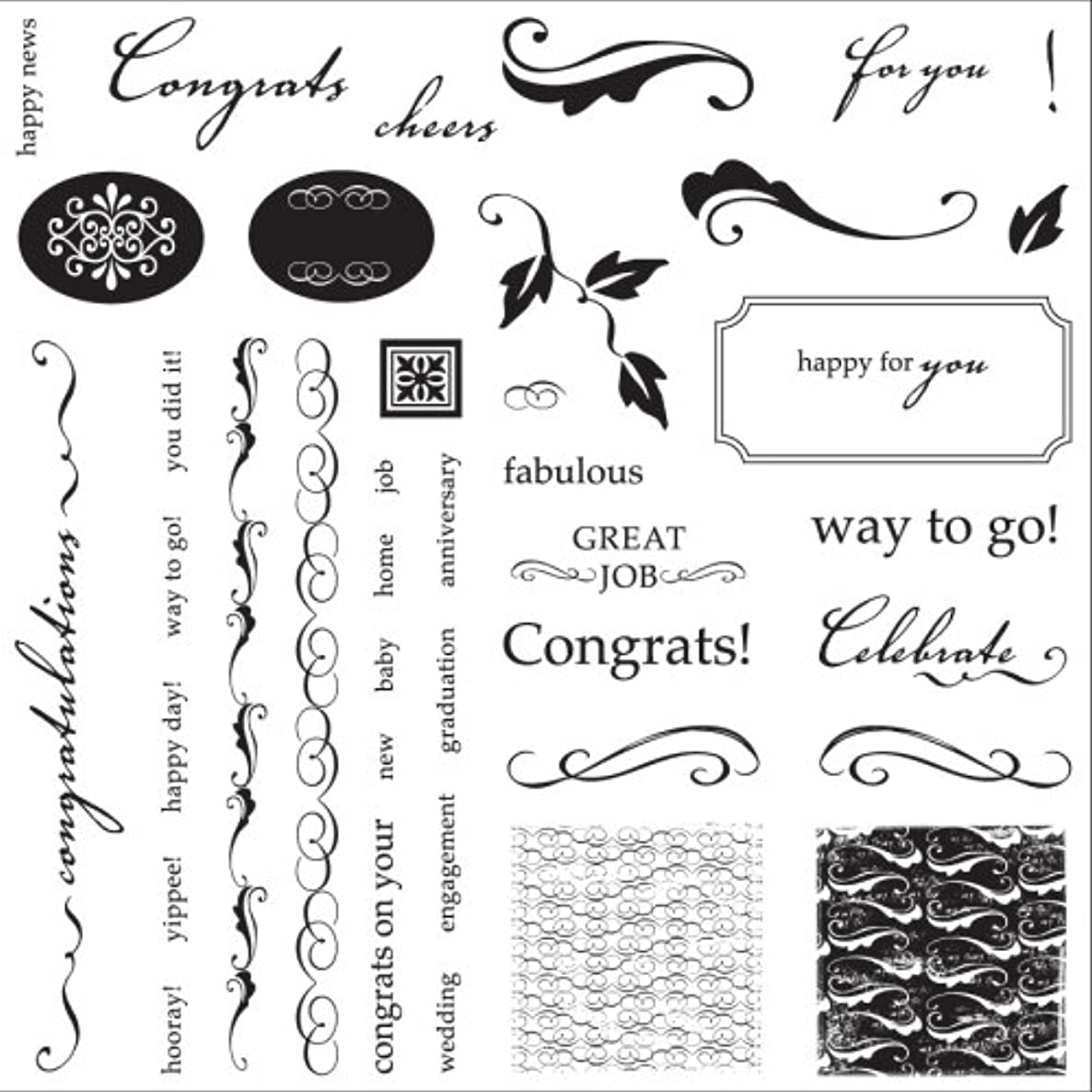 Fiskars Clear Stamps-Round of Applause