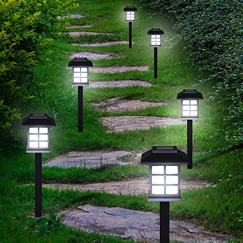 Deuba Set de 6X Lampes solaires LED Lumière pour Jardin Balcon terrasse