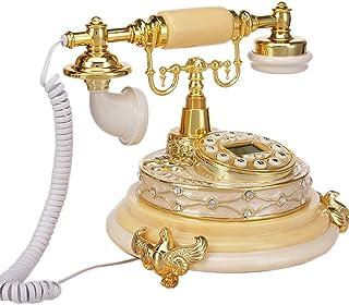 European Telephone/Retro Telephone/Old-Fashioned Telephone, Resin Metal Body Function Button Dial Retro Landline