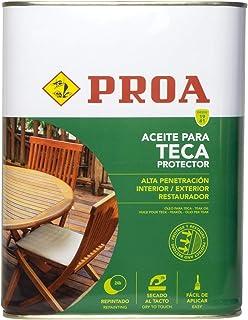 Aceite para Teca. PROA. Protección y nutrición para la madera. Renueva tus muebles de jardín.