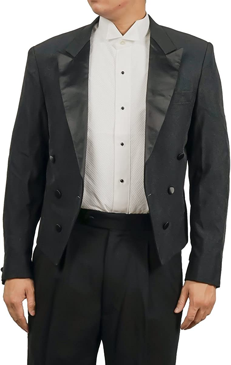 Broadway Tuxmakers Mens Black Tuxedo with Tails Suit Consists of Pants and Tailcoat